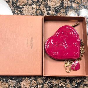 Louis Vuitton Vernis Heart coin purse